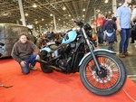 The Blue Sixteen Bobber with his builder
